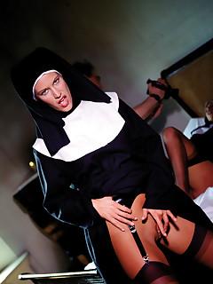 Sexy nuns get nasty