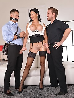 The Bound Cuckold - A Horny Wife's Deep Throat Affaire free photos and videos on DDFNetwork.com