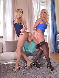 Shopping or Fucking: Two Blondes Provide Awesome Footjobs free photos and videos on DDFNetwork.com