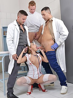 Three Cocks One Mouth: Horny Nurse Blows Doctors And Patient free photos and videos on DDFNetwork.com