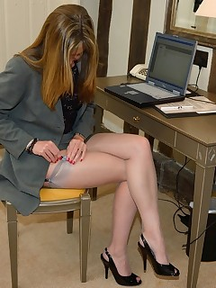 Office Stockings Pics