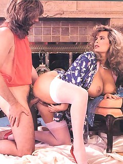 Rodox ~ Big titted seventies mom milking her boobs!