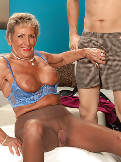 50 Plus MILFs - Our Oldest (And Most Popular) Milf Returns! - Sandra Ann and Juan Largo (35 Photos)