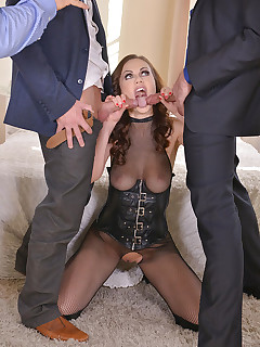 Loads and Loads of Cum: Brunette Gets Jizzed All Over Her Face free photos and videos on HandsonHardcore.com