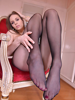 The Breathtaker - Brunette Austrian Foot Lover Licks Shoes free photos and videos on HotLegsandFeet.com