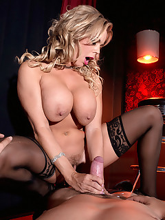 Scoreland - Busty Stripper Screwed On The Stage - Amber Lynn Bach and James Kickstand (72 Photos)