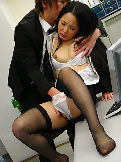Slutty babe Ai Mizushima gets banged hard | Japan HDV