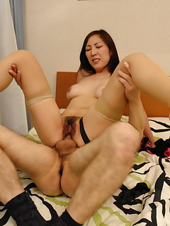 Hot lady Nao Sakurai gets a big meat pole | Japan HDV